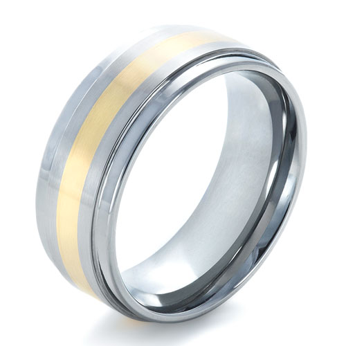 2 Tone Men Bands: Men's Two-Tone Tungsten Ring #1359