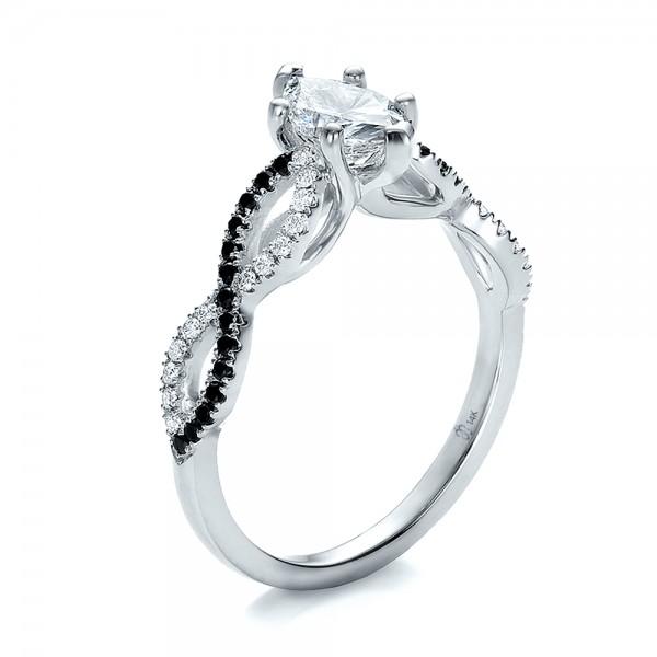 carat black and white diamond wedding ring set in goldjpg 600x600 engagement - Black And White Diamond Wedding Rings