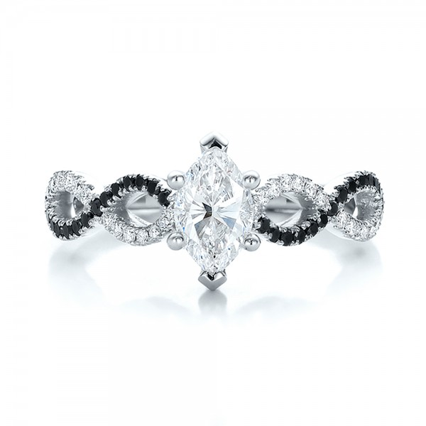Fake Black Diamond Engagement Rings