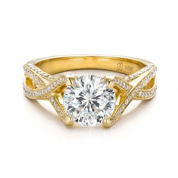 Yellow Diamond Wedding Ring Black Diamond Ring Yellow Gold