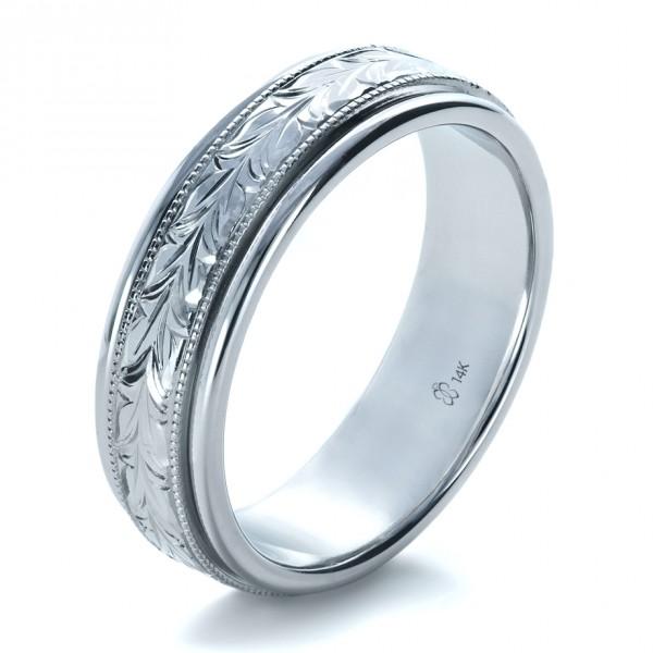 men 39 s wedding bands custom hand engraved wedding band