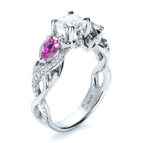 Custom jewelry engagement rings bellevue seattle joseph for Pink diamond wedding rings