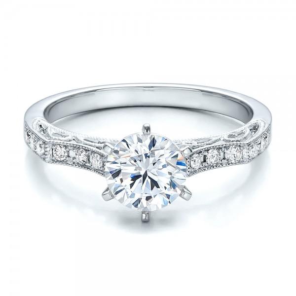 Diamond Filigree Engagement Ring Vanna K