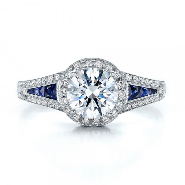Black Round Diamond Engagement Ring Bridal Set Gold Rings Rose Oval -  Diamond Halo Blue Sapphire Engagement Ring Top Gold Rings Rose
