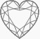 Heart Diamond Button