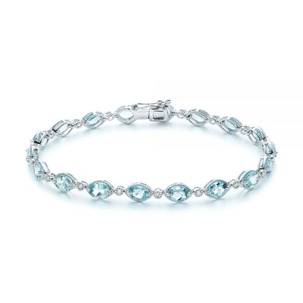 Aquamarine and Diamond Bracelet - Image