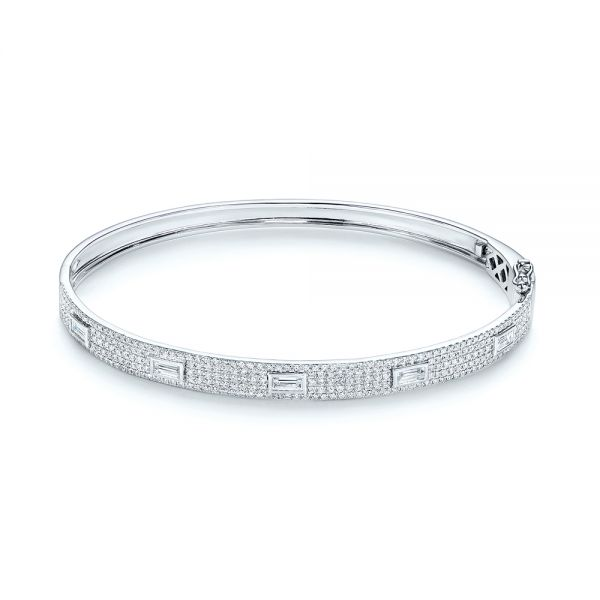 Baguette Diamond and Pave Bangle - Image