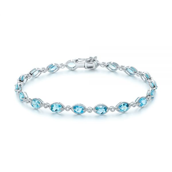 Blue Topaz and Diamond Bracelet - Image