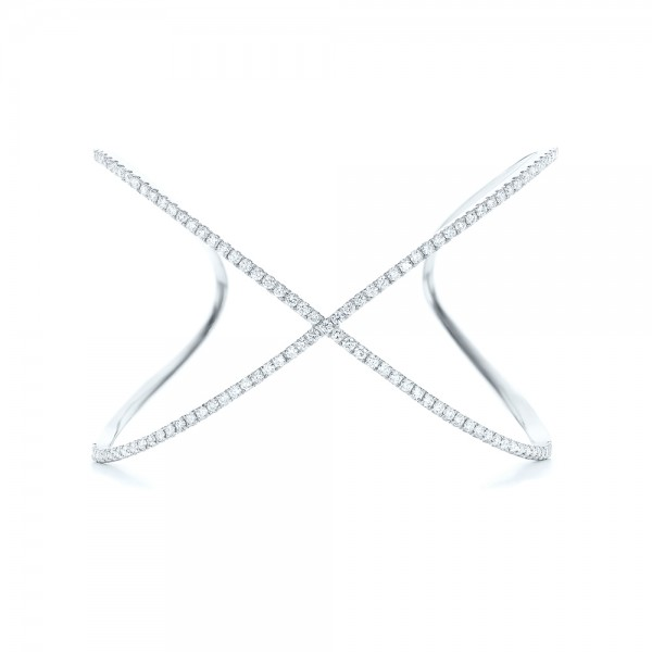 Criss-cross Diamond Bangle - Top View -  102413