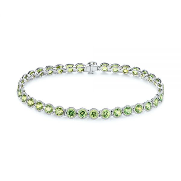 Demantoid Garnet Eternity Bracelet - Image