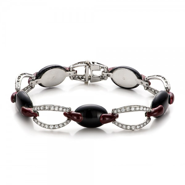 Diamond and Black Onyx Bracelet