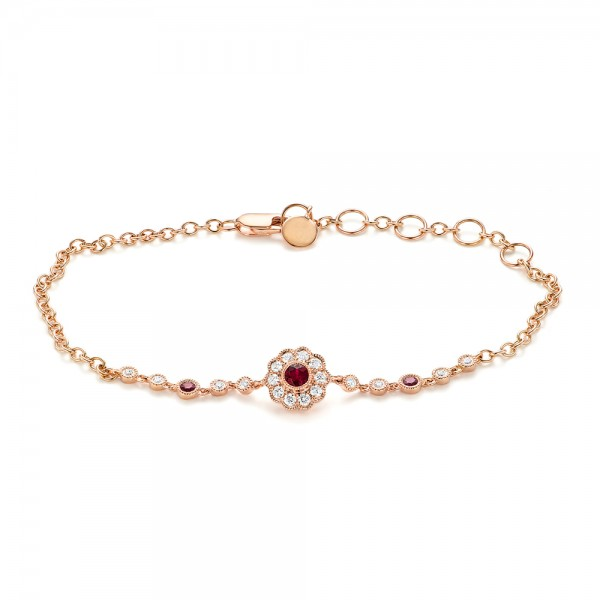 Diamond and Ruby Bracelet - Image