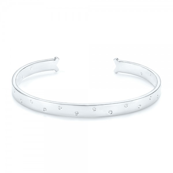 Flush Set Diamond Bangle - Image