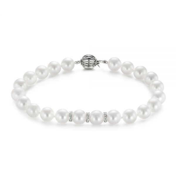 Pearl and Diamond Bracelet - Image