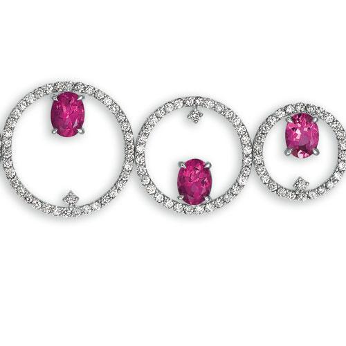 Rubellite and Diamond Bracelet - Vanna K - Laying View