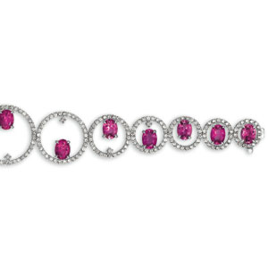 Rubellite and Diamond Bracelet - Vanna K