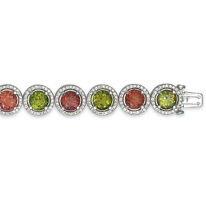 Tourmaline, Garnet and Diamond Bracelet - Vanna K