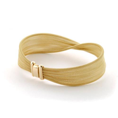 Woven Chain Gold Bracelet - 3/4 View