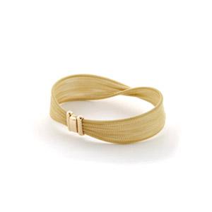 Woven Chain Gold Bracelet