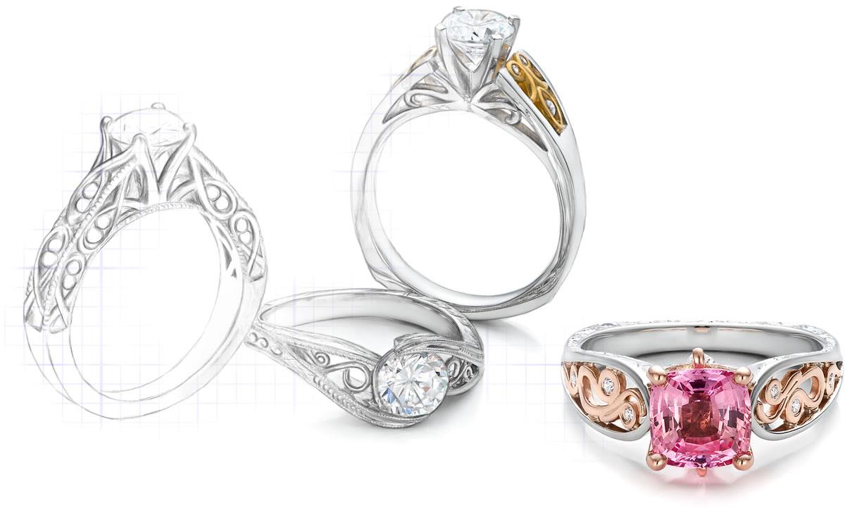 custom jewelry designs in bellevue and seattle