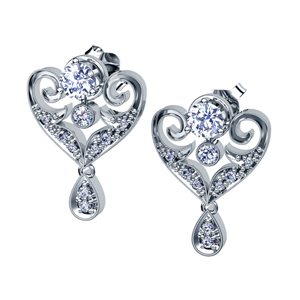 Diamond Earrings with Jacket