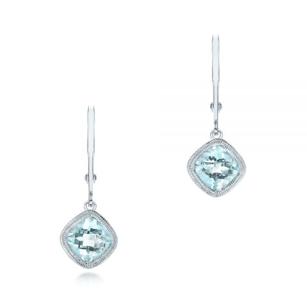 Aquamarine Drop Earrings - Image