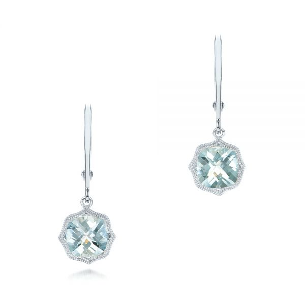 Aquamarine Leverback Earrings