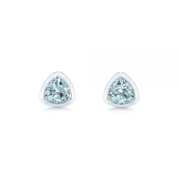 Aquamarine Stud Earrings - Image
