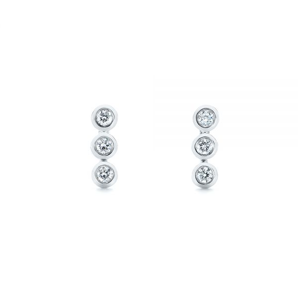 Bezel-Set Diamond Earrings - Image
