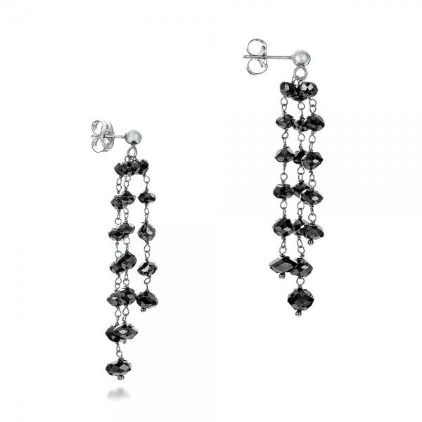 black diamond dangle earrings 100845   seattle bellevue