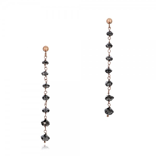 Black Diamond Dangle Earrings