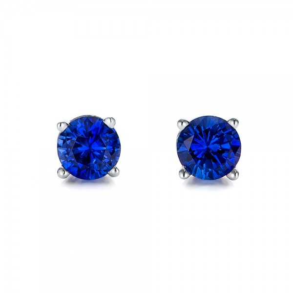Blue Sapphire Stud Earrings