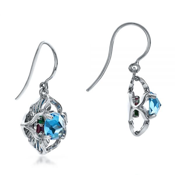 Blue Topaz Earrings - Front View -