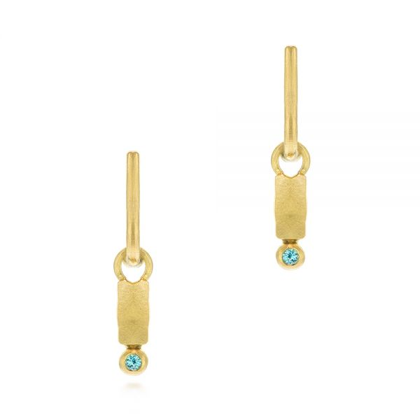 Blue Zircon Latch Back Earrings - Image
