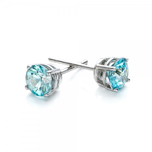 91140715b Blue Zircon Stud Earrings #100939 - Seattle Bellevue | Joseph Jewelry