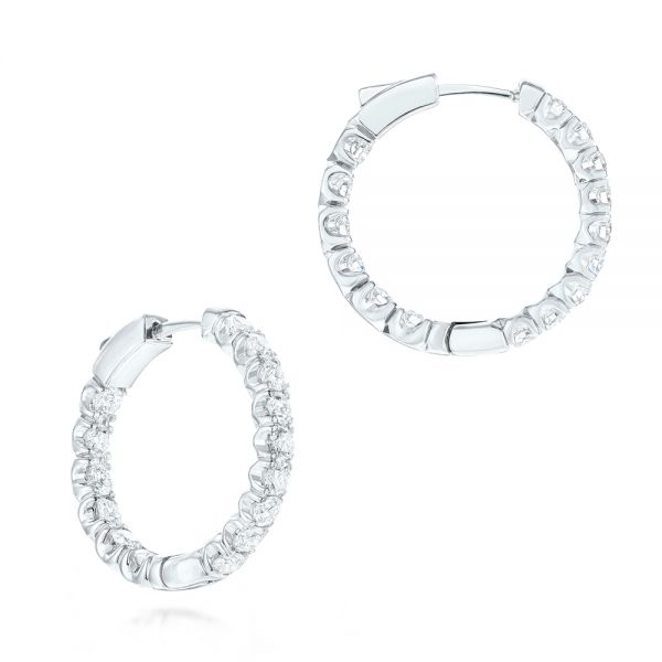 Brilliant Facet Pavé Hoop Earrings - Image