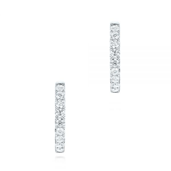 Brilliant Facet Pavé Hoop Earrings - Front View -  103689 - Thumbnail