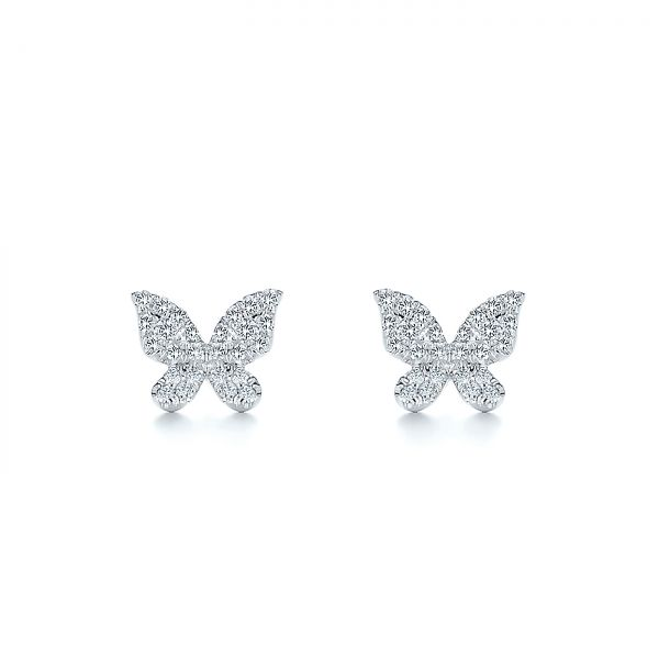 Butterfly Diamond Earrings - Image