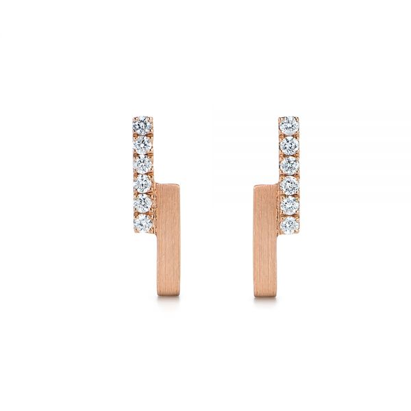 Contemporary Diamond Stud Earrings - Image