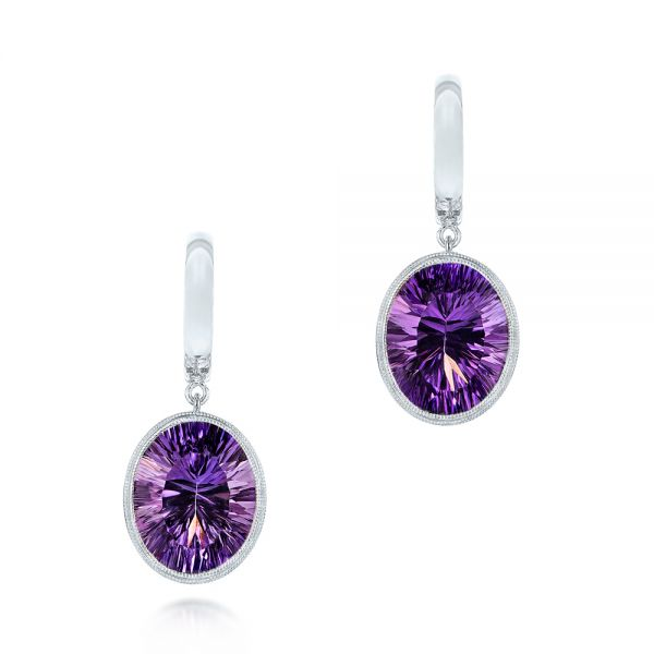 Custom Amethyst Drop Earrings - Image