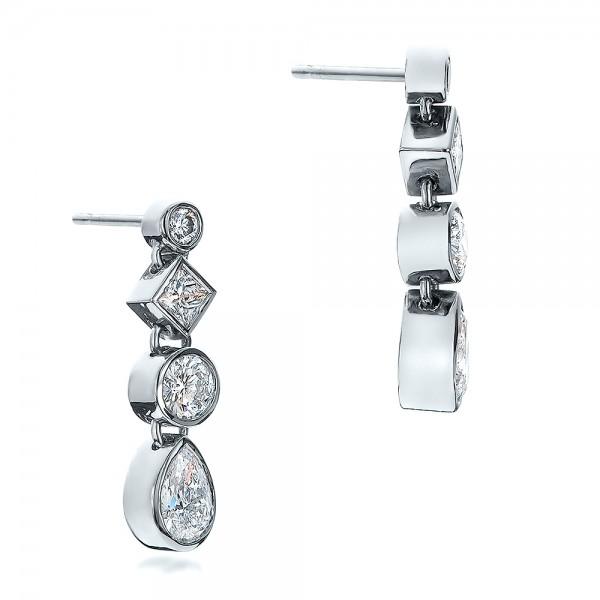 Custom Diamond Drop Earrings - Laying View