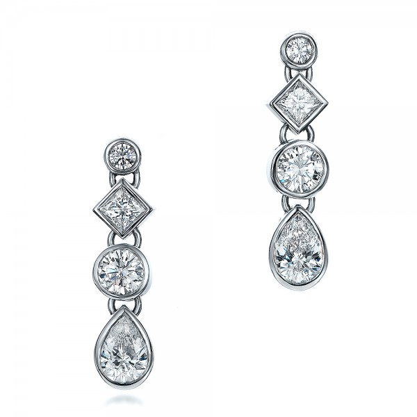Custom Diamond Drop Earrings