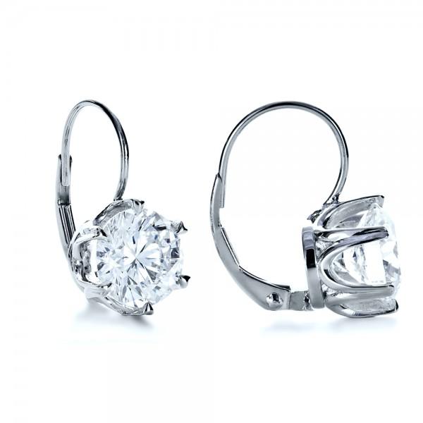 Custom Diamond Earrings - Laying View