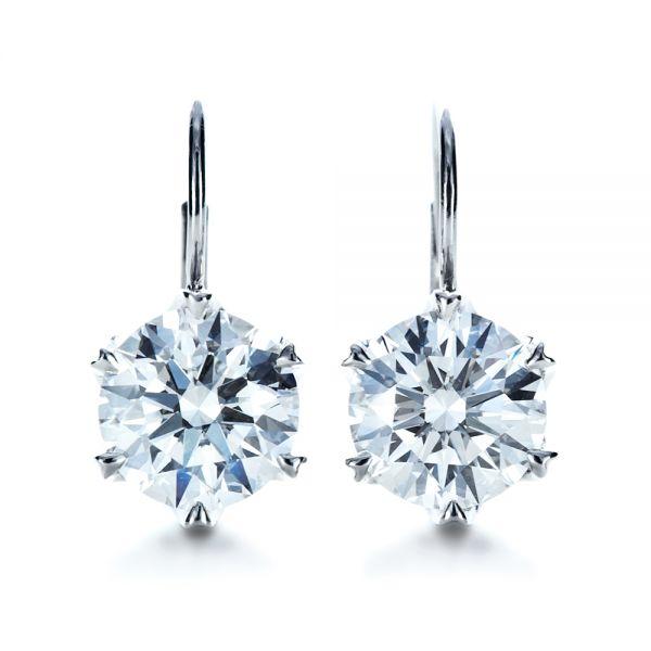 Custom Diamond Earrings 1172 Seattle Bellevue Joseph Jewelry