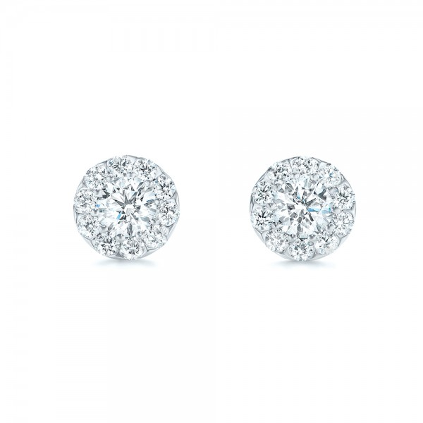 Custom Diamond Halo Stud Earrings