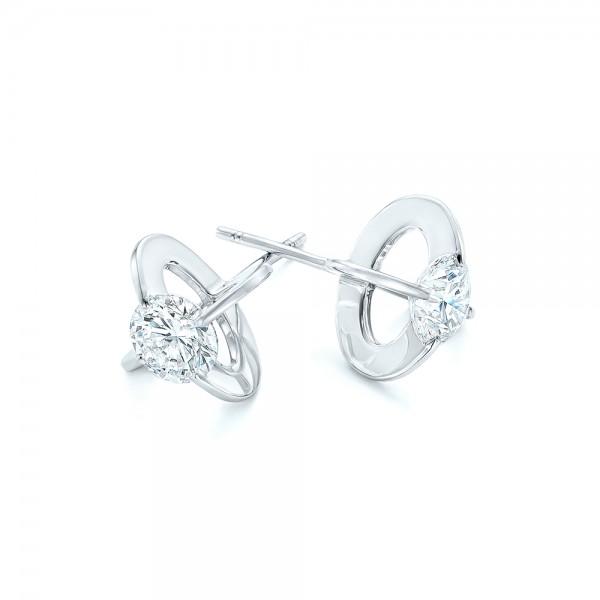 Custom Diamond Stud Earrings - Laying View