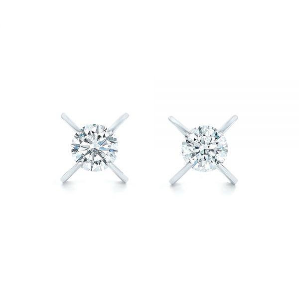 Custom Diamond Stud Earrings 102793 Seattle Bellevue Joseph Jewelry
