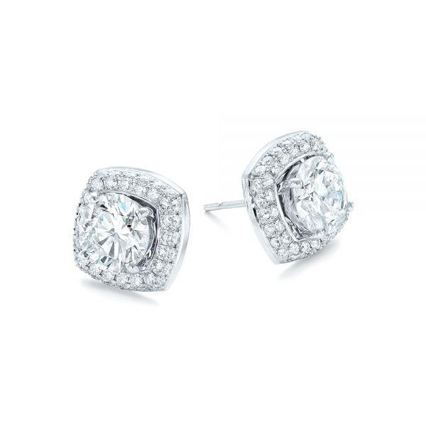 Custom Diamond Stud Jacket Earrings 103273 Seattle Bellevue Joseph Jewelry