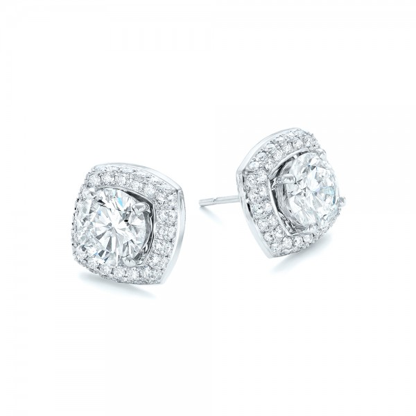 Custom Diamond Stud Jacket Earrings - Laying View