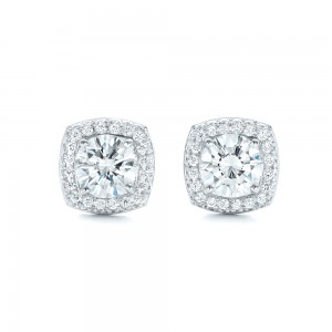 Custom Diamond Stud Jacket Earrings
